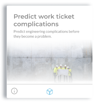Predict work ticket complications