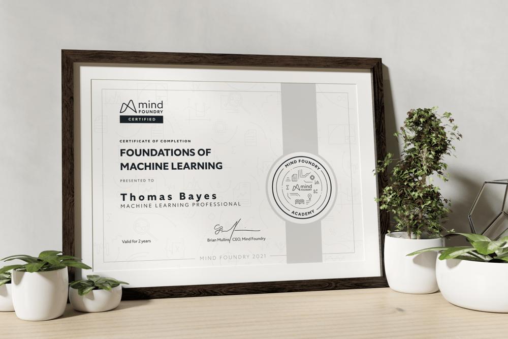 Mind Foundry Academy Certification